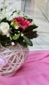 Γάμος σε ροζ και φούξια αποχρώσεις με ζέρμπερες και τριαντάφυλλα