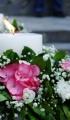 Καλοκαιρινός γάμος με φρέζιες, λυσίανθο, ορτανσίες και τριαντάφυλλα